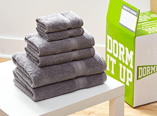 Gray hand towels