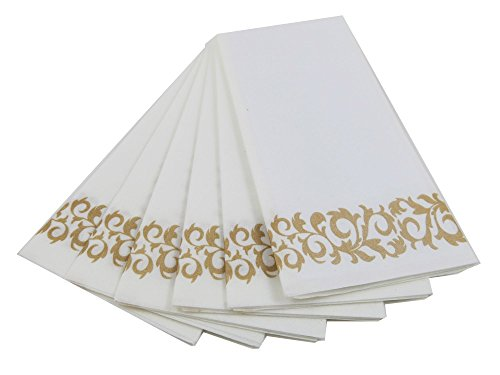 Swell Guest Linen Decorative Hand Napkins 200 Pack Gold Floral Download Free Architecture Designs Viewormadebymaigaardcom
