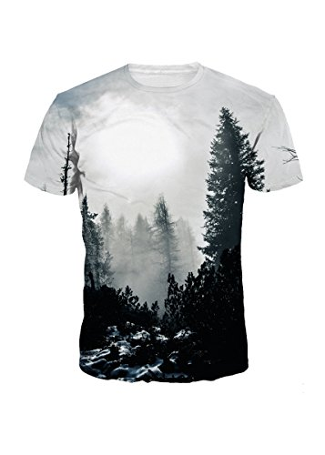 322c74b0c Unisex 3d patterns printed summer casual short sleeve t-shirts tees  creative 3d printed graphic, lighter weight, swear, l, super Cool T Shirt,  M, ...
