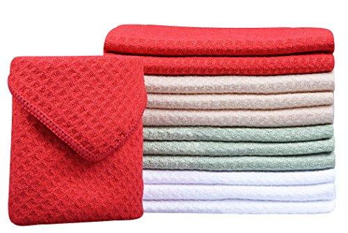 1728cf8534d3f Sinland Microfiber Dish Drying Towels Dish Towels Waffle Weave ...