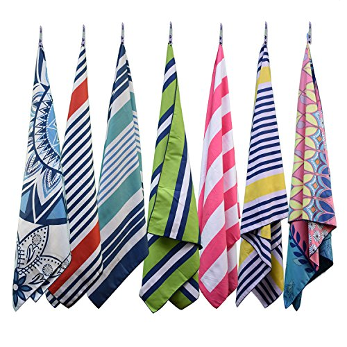 Travel Sports Outdoor Swim Camp isnowood Set of 3 Microfiber Towels Gym Quick Dry /· Absorbent /· Antimicrobial /· Compact /· Carabiner /· Lightweight Men Women Beach Backpacking